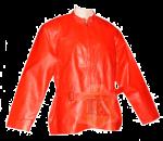 Jaket Kulit Wanita Merah Kerah Shanghai